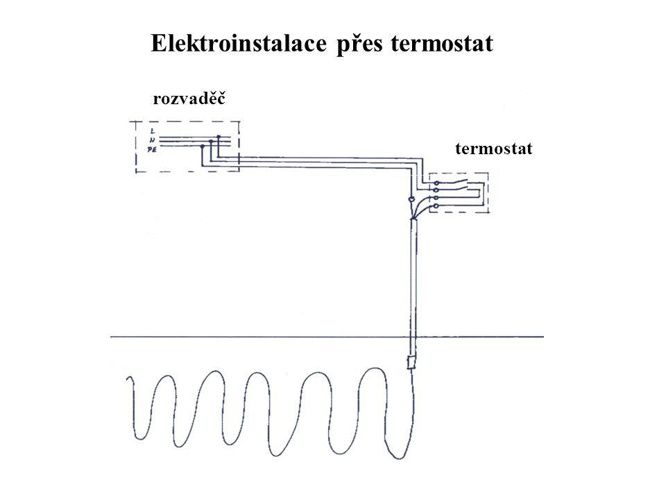Elektroinstalace přes termostat