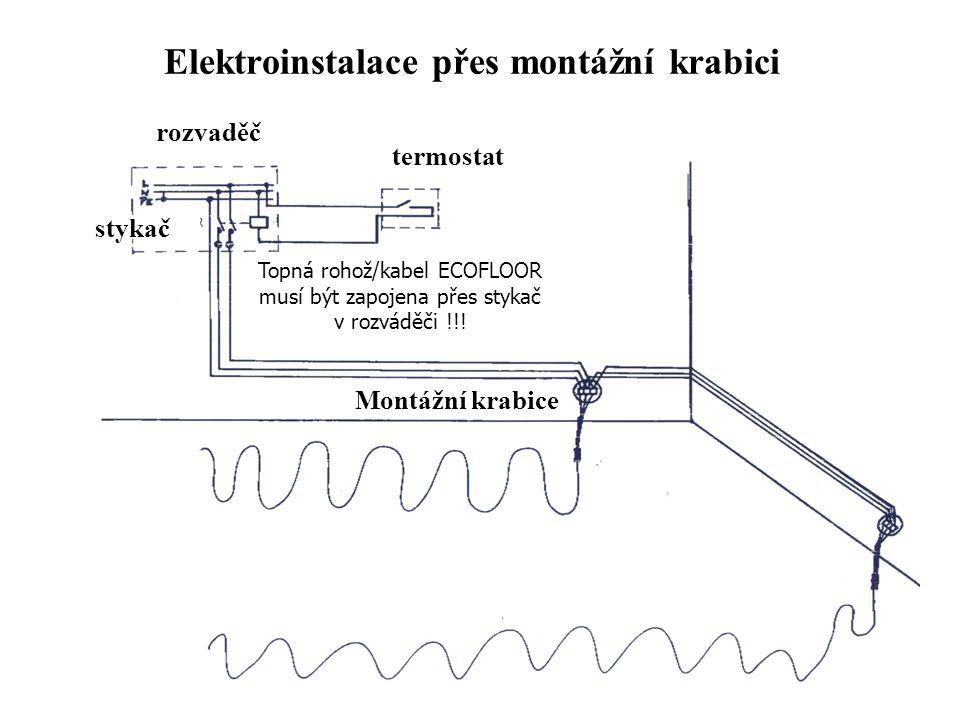 Elektroinstalace přes montážní krabici