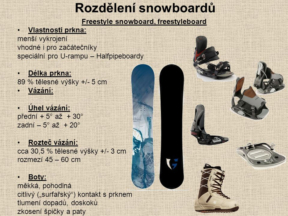 Freestyle snowboard, freestyleboard