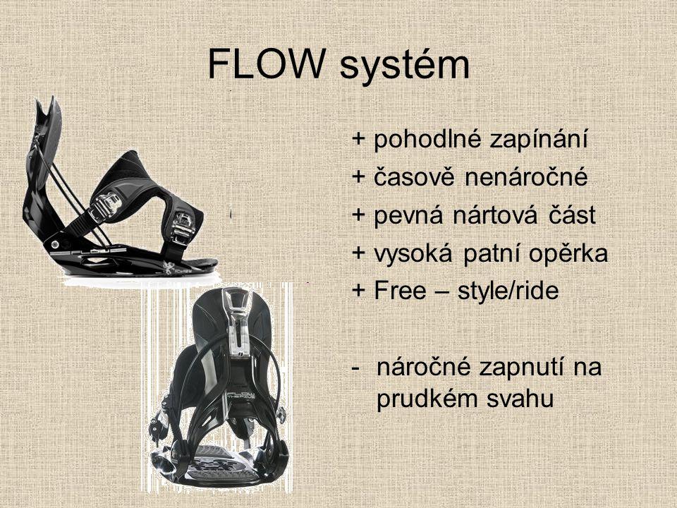 FLOW systém + pohodlné zapínání + časově nenáročné