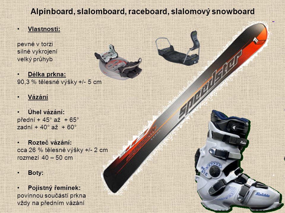 Alpinboard, slalomboard, raceboard, slalomový snowboard