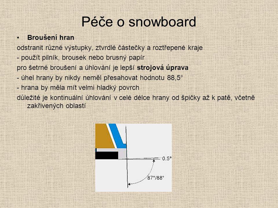 Péče o snowboard Broušení hran