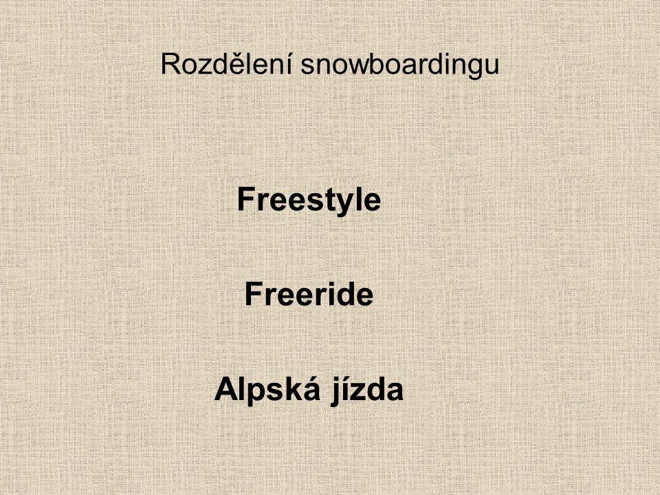 Rozdělení snowboardingu