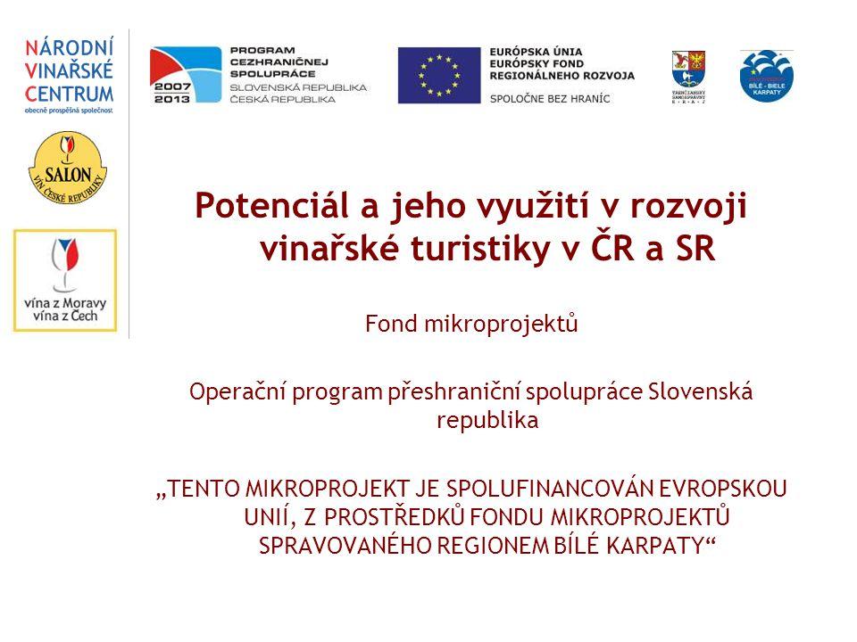 Potenciál a jeho využití v rozvoji vinařské turistiky v ČR a SR