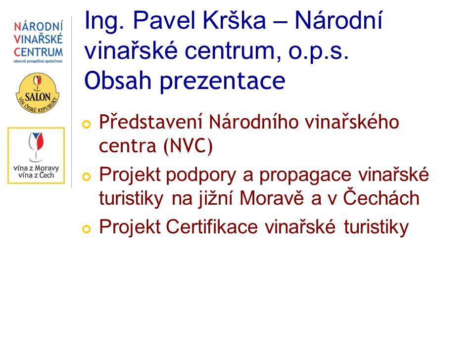 Ing. Pavel Krška – Národní vinařské centrum, o.p.s. Obsah prezentace