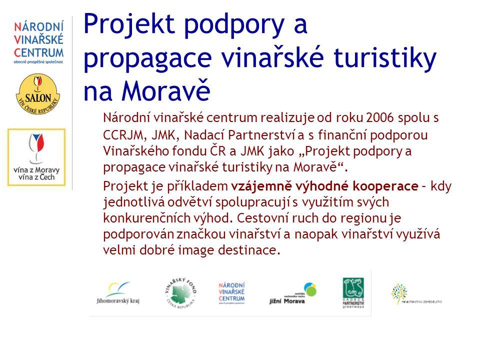 Projekt podpory a propagace vinařské turistiky na Moravě