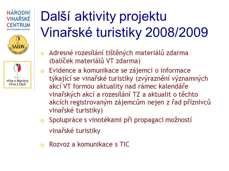 Další aktivity projektu Vinařské turistiky 2008/2009
