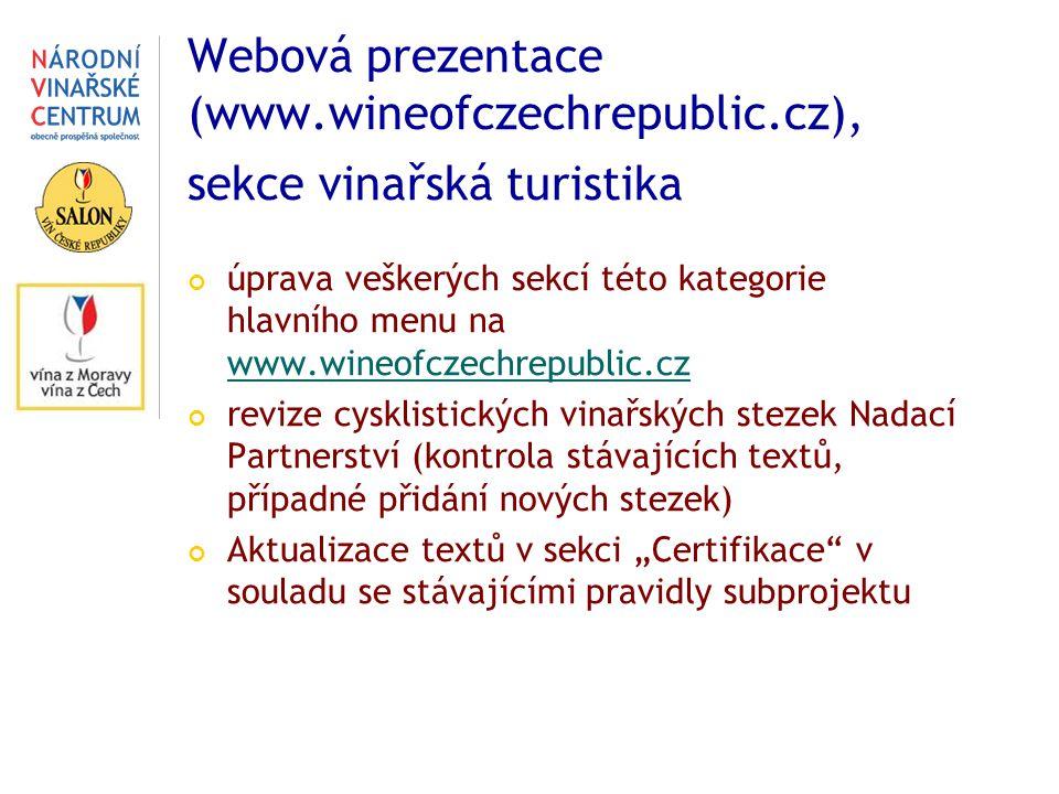 Webová prezentace (www. wineofczechrepublic