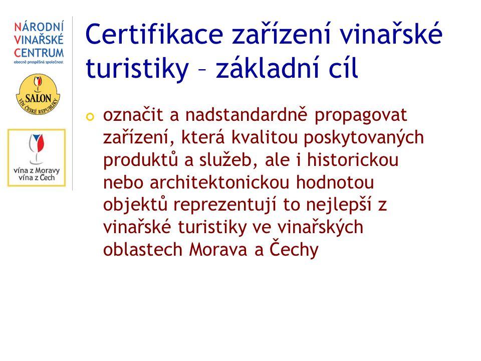 Certifikace zařízení vinařské turistiky – základní cíl