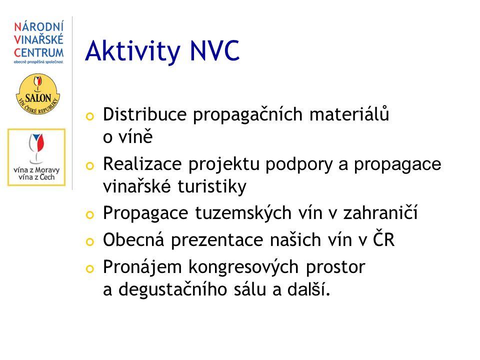 Aktivity NVC Distribuce propagačních materiálů o víně