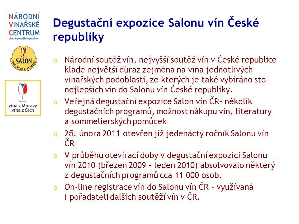 Degustační expozice Salonu vín České republiky
