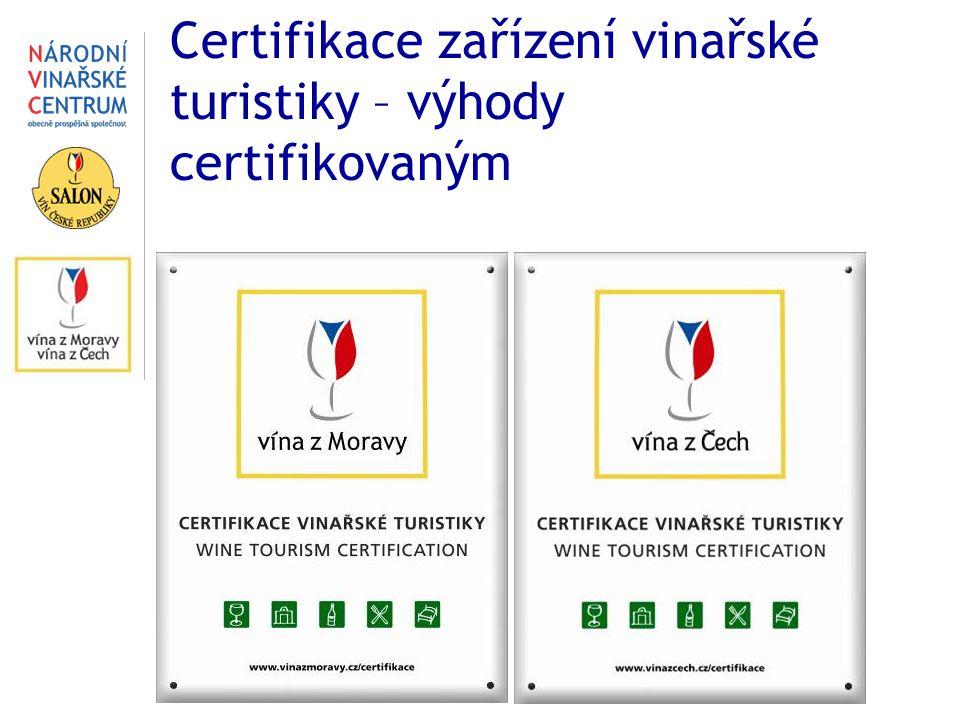 Certifikace zařízení vinařské turistiky – výhody certifikovaným