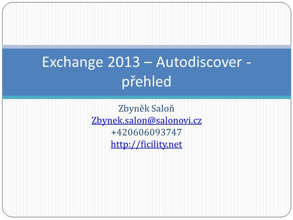 Exchange 2013 – Autodiscover - přehled