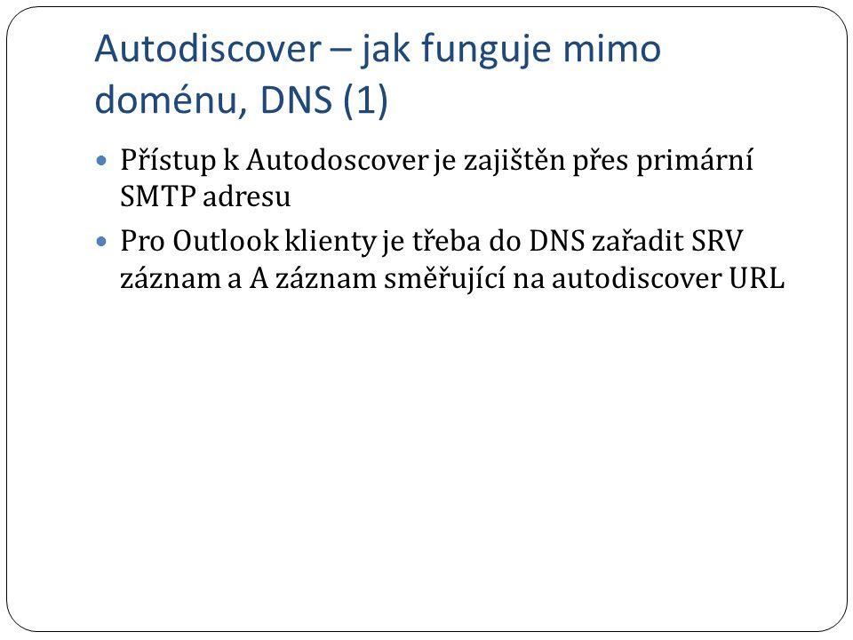 Autodiscover – jak funguje mimo doménu, DNS (1)