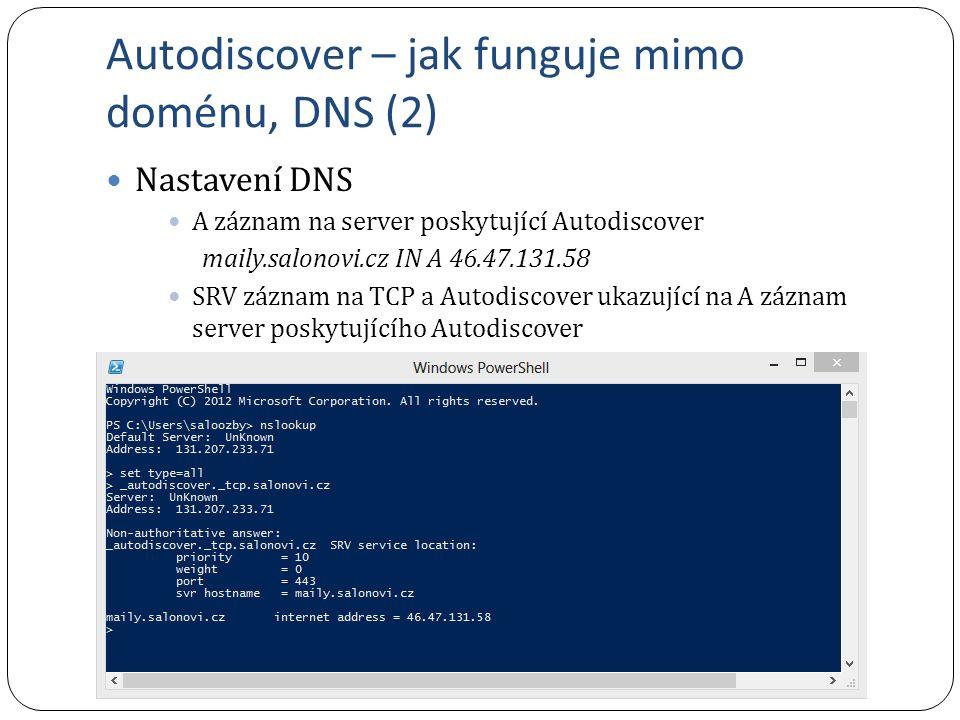 Autodiscover – jak funguje mimo doménu, DNS (2)