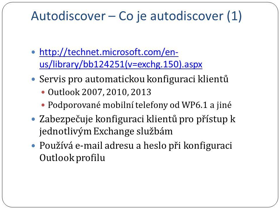 Autodiscover – Co je autodiscover (1)