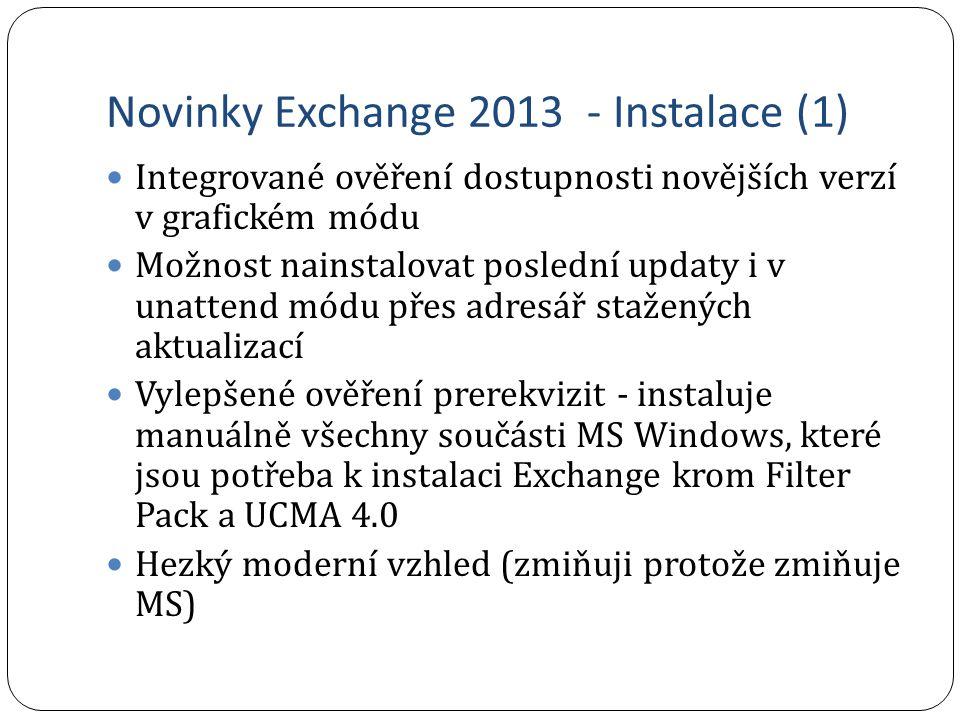 Novinky Exchange 2013 - Instalace (1)