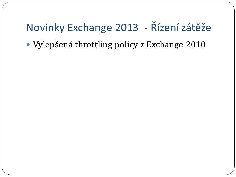 Novinky Exchange 2013 - Řízení zátěže