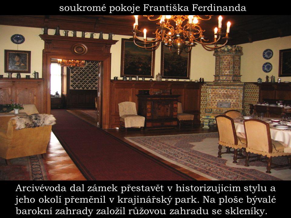 soukromé pokoje Františka Ferdinanda
