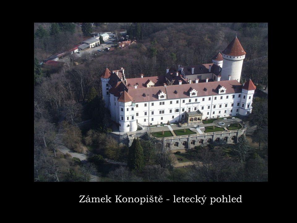 Zámek Konopiště - letecký pohled