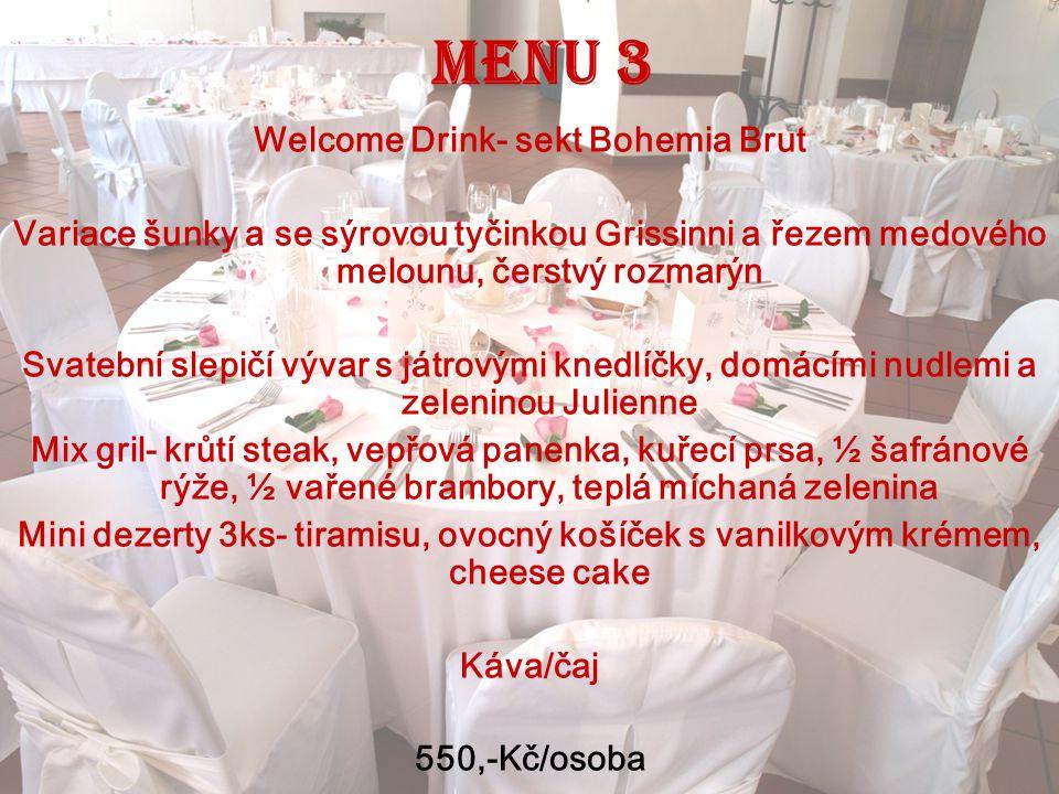 Welcome Drink- sekt Bohemia Brut