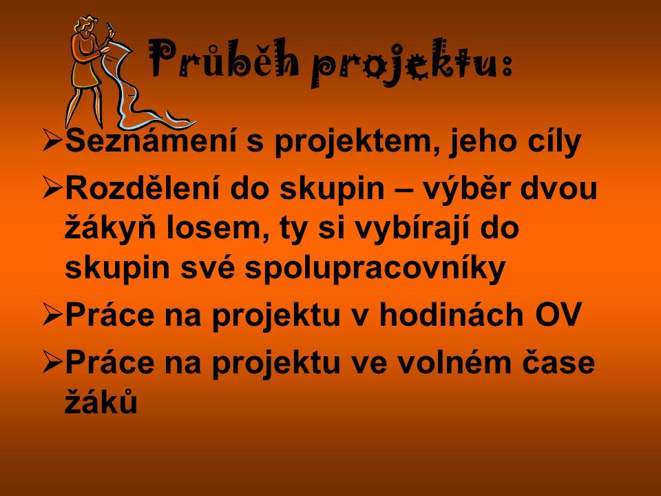 Průběh projektu: Seznámení s projektem, jeho cíly