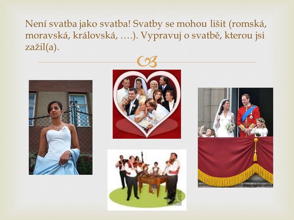 Není svatba jako svatba