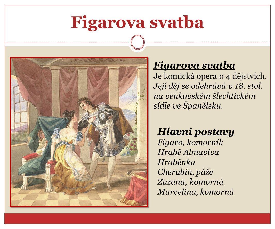 Figarova svatba Figarova svatba Hlavní postavy