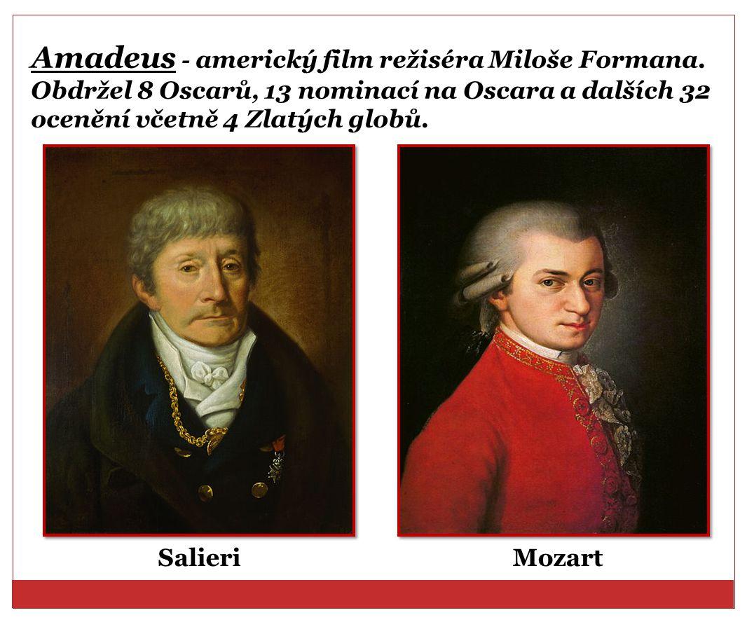 Amadeus - americký film režiséra Miloše Formana
