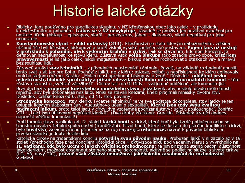Historie laické otázky