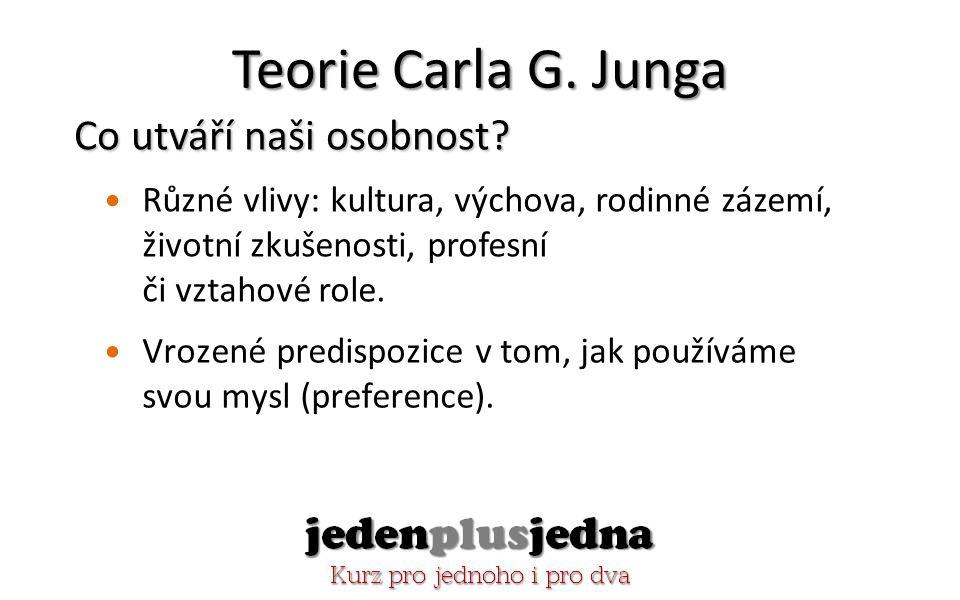 Teorie Carla G. Junga Co utváří naši osobnost