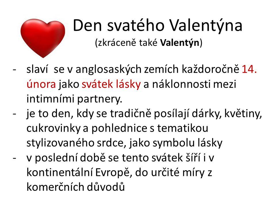 (zkráceně také Valentýn)