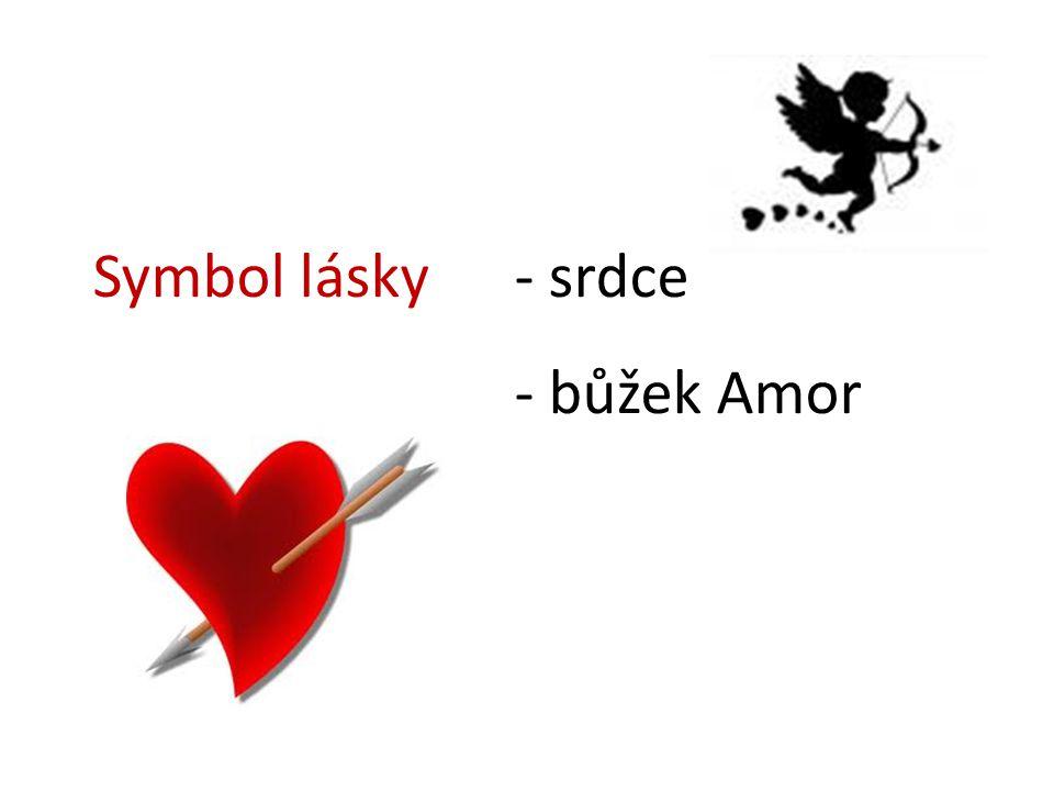 Symbol lásky - srdce - bůžek Amor
