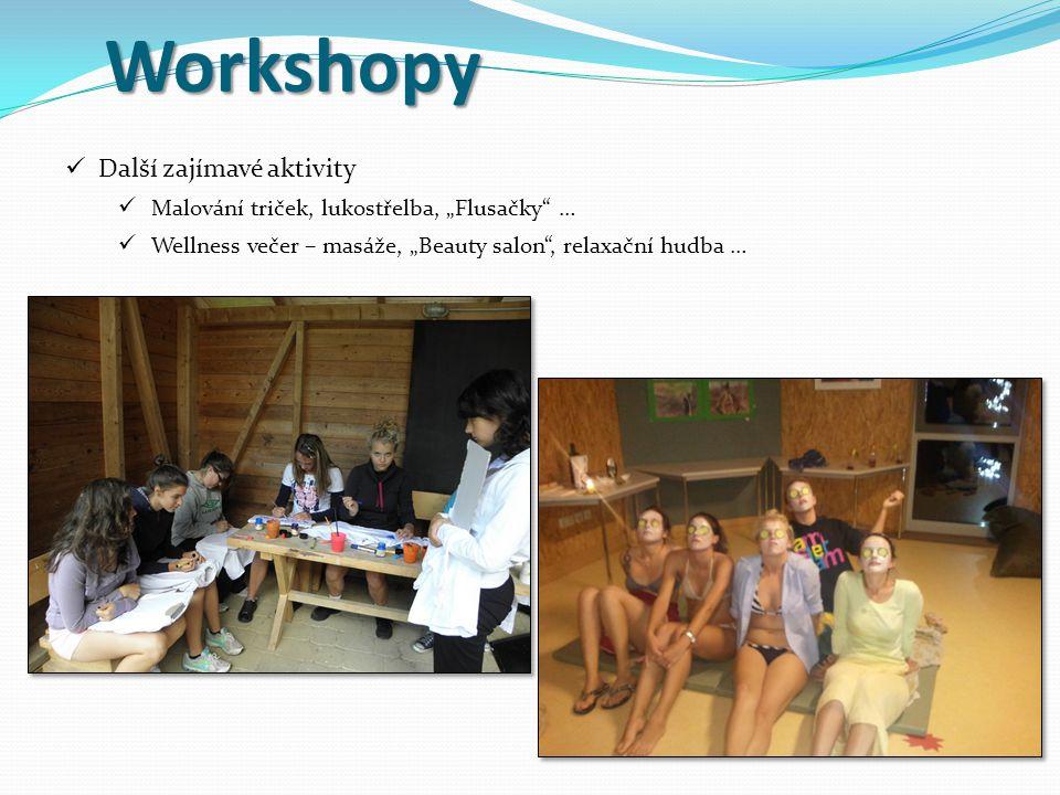Workshopy Další zajímavé aktivity