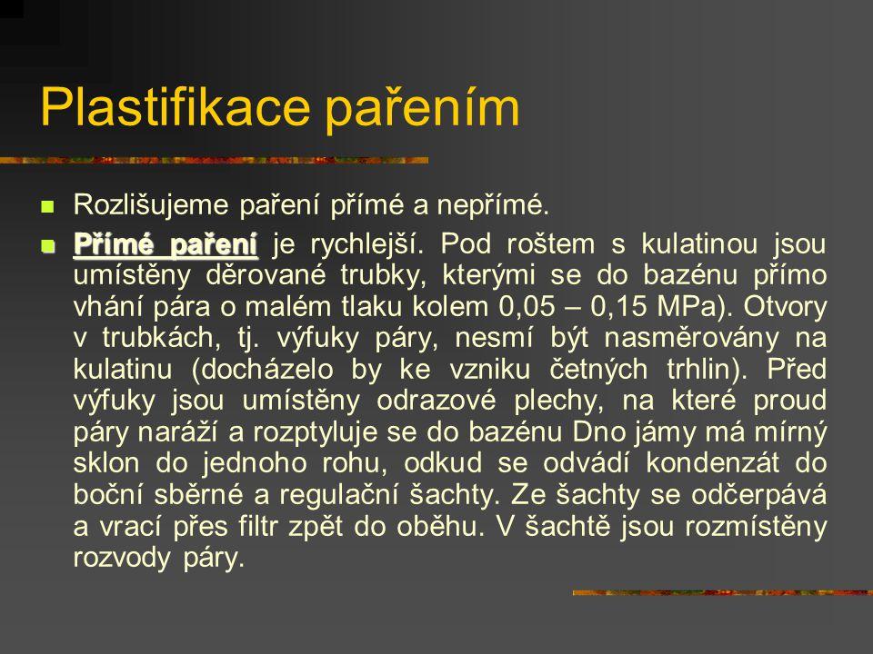 Plastifikace pařením Rozlišujeme paření přímé a nepřímé.