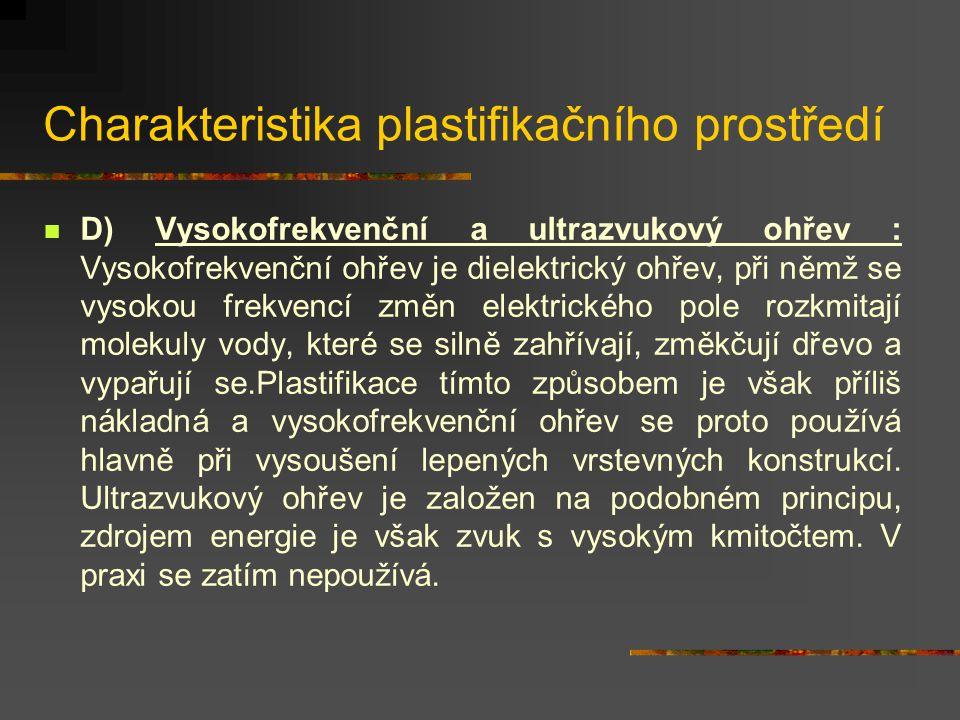 Charakteristika plastifikačního prostředí