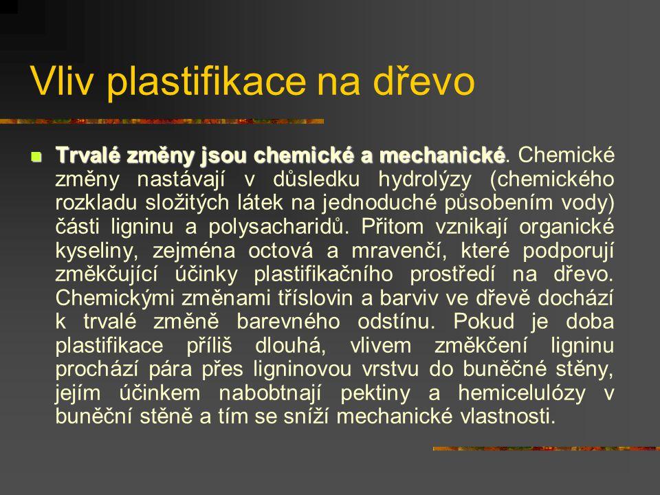 Vliv plastifikace na dřevo
