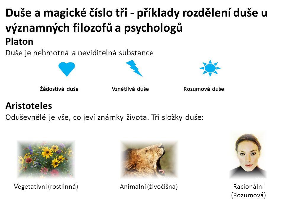 Duše a magické číslo tři - příklady rozdělení duše u významných filozofů a psychologů