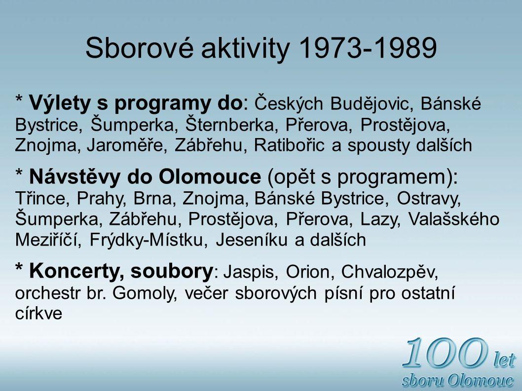 Sborové aktivity 1973-1989