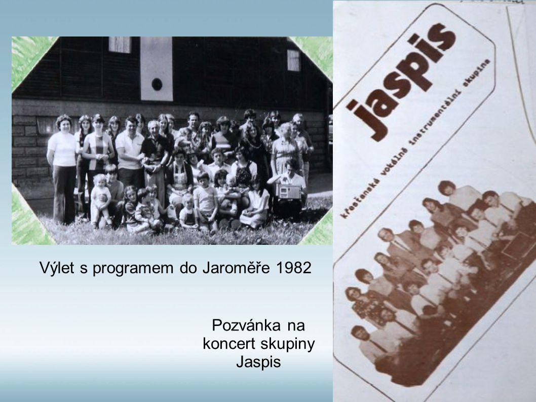 Pozvánka na koncert skupiny Jaspis