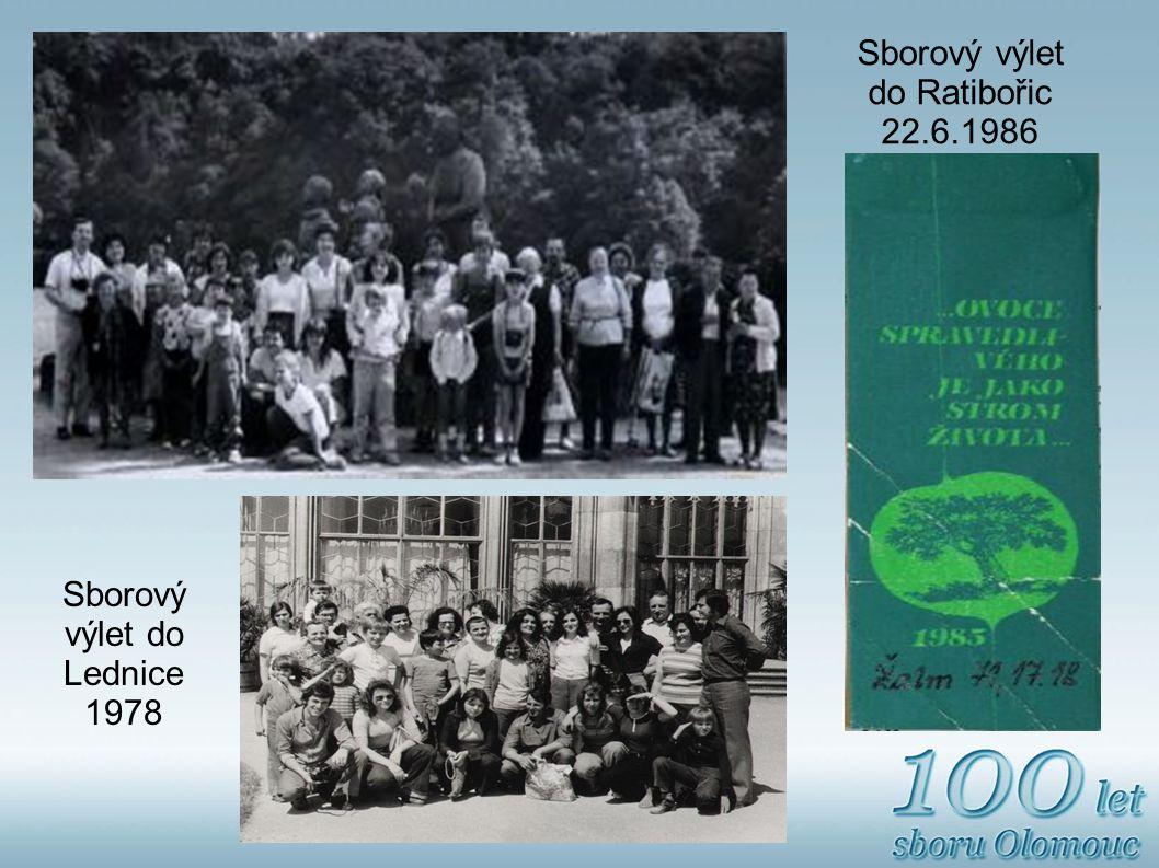 Sborový výlet do Ratibořic 22.6.1986