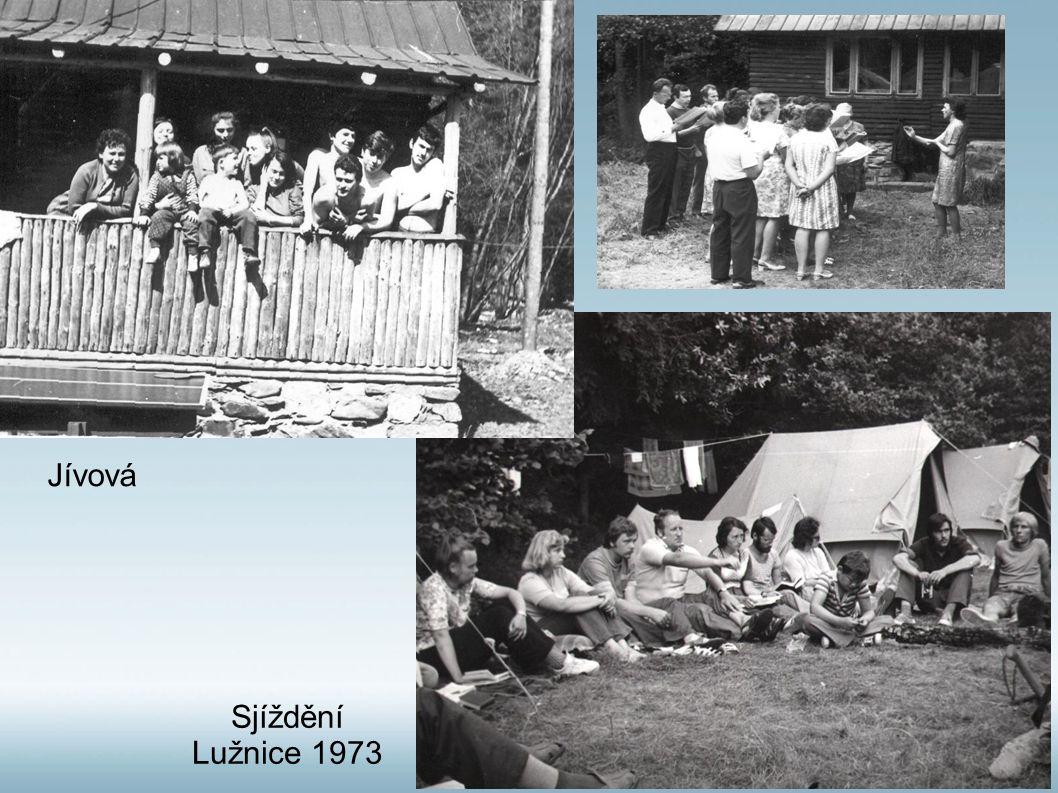 Jívová Sjíždění Lužnice 1973