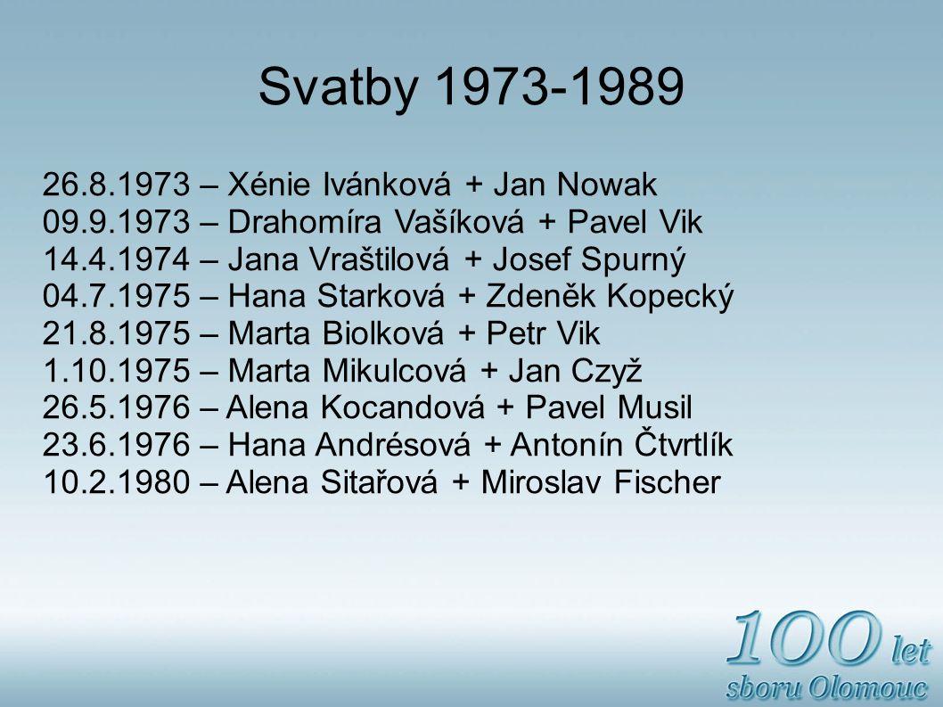 Svatby 1973-1989 26.8.1973 – Xénie Ivánková + Jan Nowak