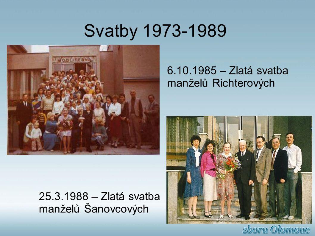 Svatby 1973-1989 6.10.1985 – Zlatá svatba manželů Richterových