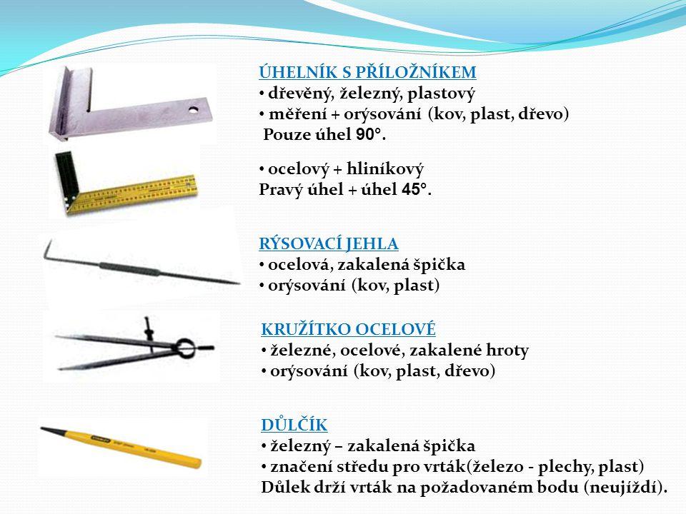 ÚHELNÍK S PŘÍLOŽNÍKEM dřevěný, železný, plastový. měření + orýsování (kov, plast, dřevo) Pouze úhel 90°.