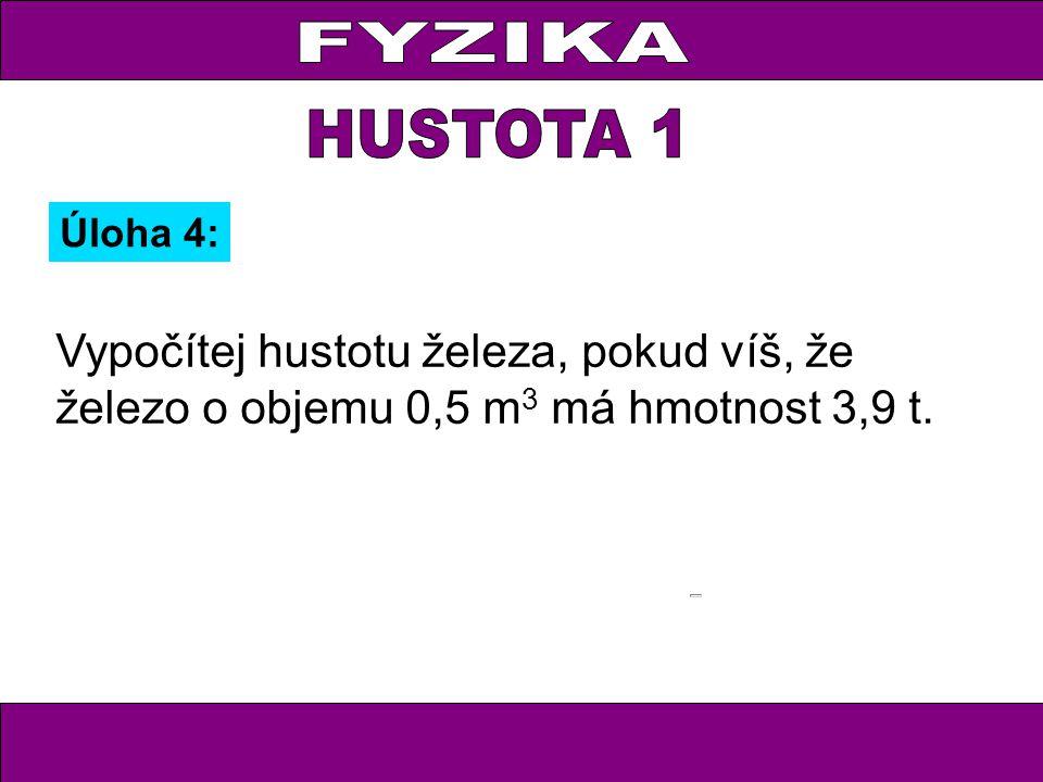 FYZIKA HUSTOTA 1.