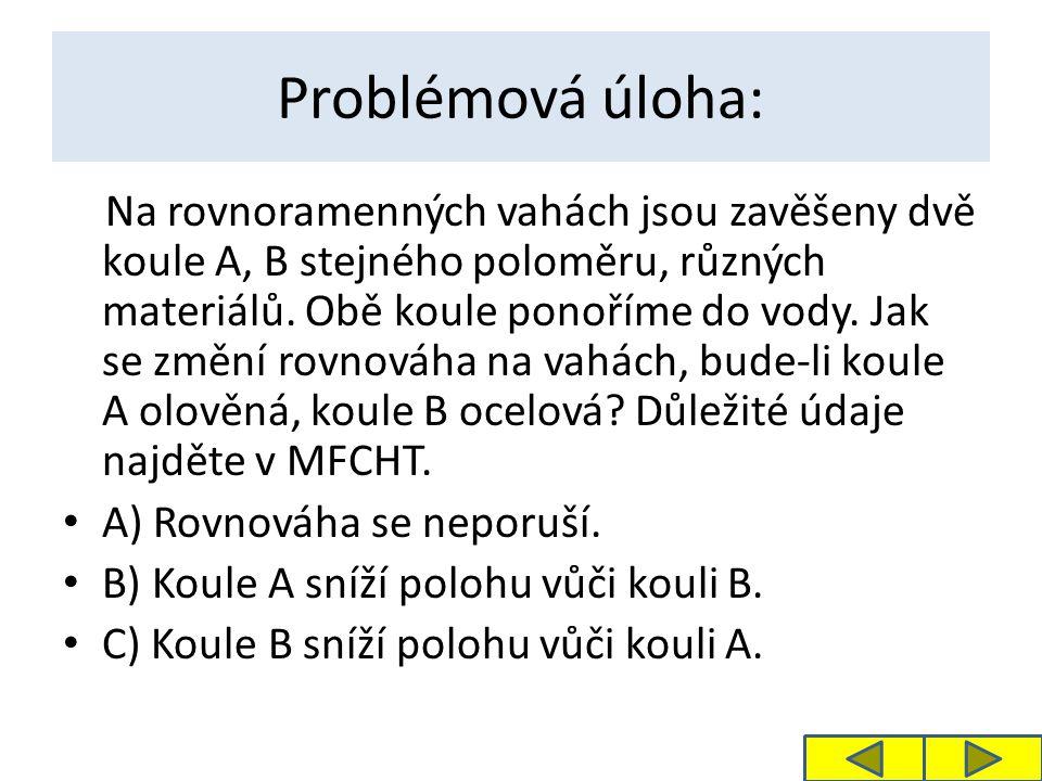 Problémová úloha: