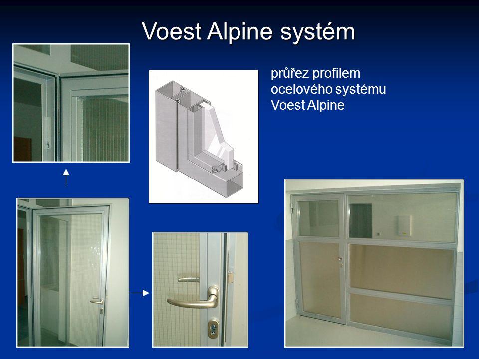 Voest Alpine systém průřez profilem ocelového systému Voest Alpine