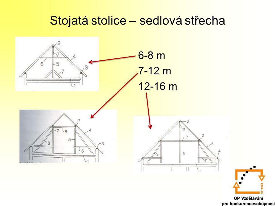 Stojatá stolice – sedlová střecha