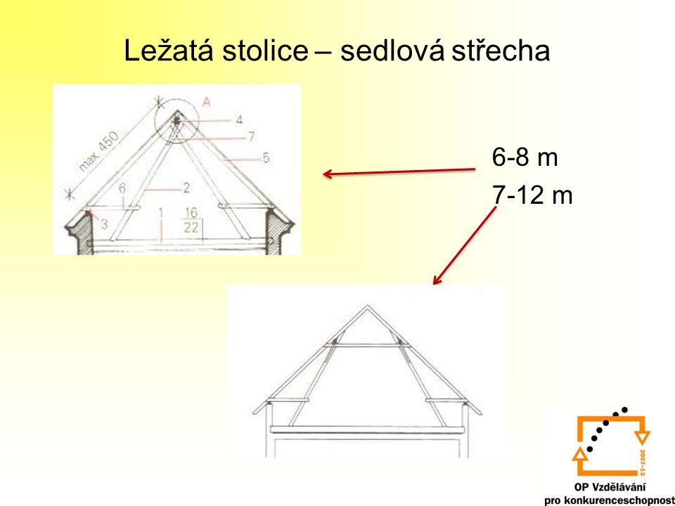 Ležatá stolice – sedlová střecha